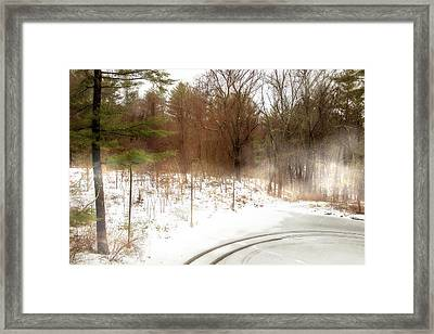 Snow In Spring Framed Print by Terry Davis