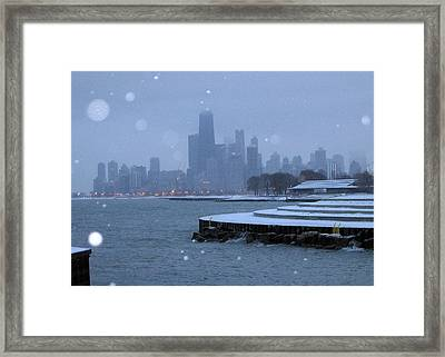 Snowy Chicago Framed Print