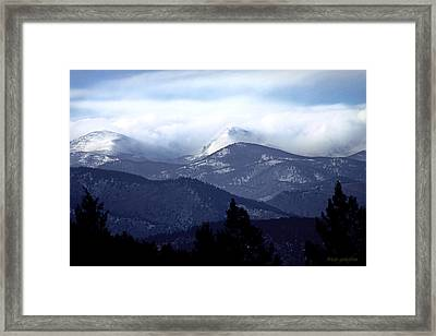 Snow In The Highlands Framed Print by Brian Gustafson