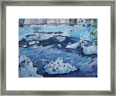 Snow In The Park Framed Print by Wendy Head
