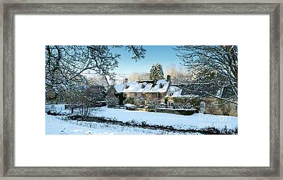 Snow In The Slaughters Framed Print