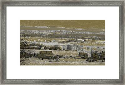 Framed Print featuring the photograph Snow In The Valley by Vilas Malankar