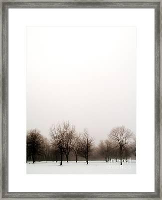 Snow Landscape Framed Print by Emilio Lovisa