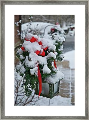 Snow Latern Framed Print