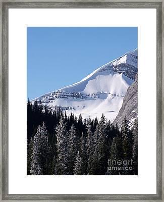 Snow Ledge Framed Print by Greg Hammond