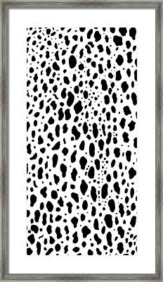 Framed Print featuring the painting Snow Leopard Design by Saad Hasnain