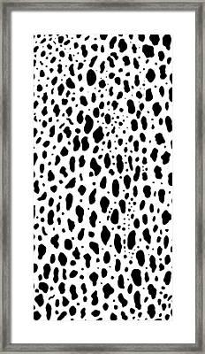 Snow Leopard Design Framed Print by Saad Hasnain