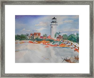 Snow Light At Cape Cod Framed Print by Warren Thompson