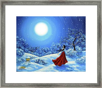 Snow Like Stars Framed Print