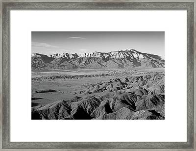 Snow Line Framed Print