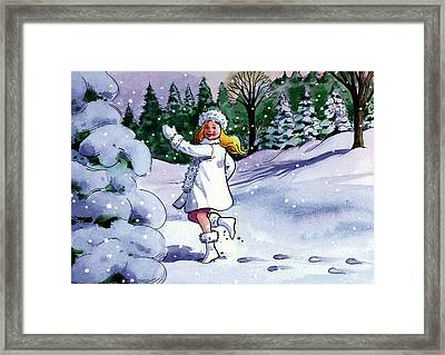 Snow Maiden Framed Print by Valer Ian
