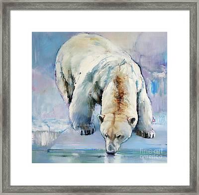 Snow Framed Print by Mark Adlington