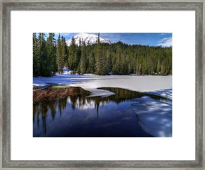 Snow-melt Revelations Framed Print