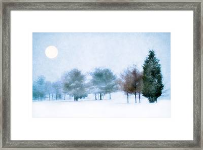 Snow Moon Framed Print by Darren Fisher