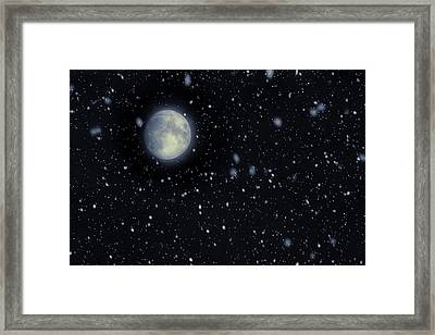 Snow Moon February 2017 Framed Print by Terry DeLuco