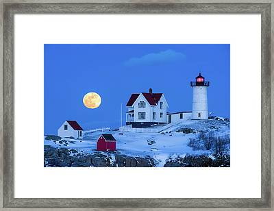 Snow Moon Framed Print by Michael Blanchette