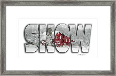 Snow Name  3 Framed Print