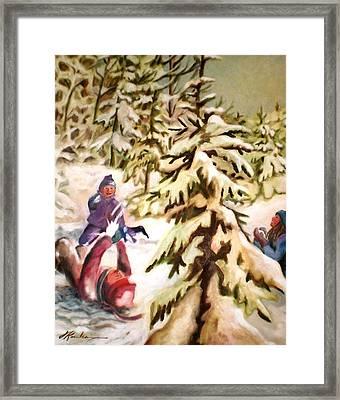 Snow - Neige Framed Print