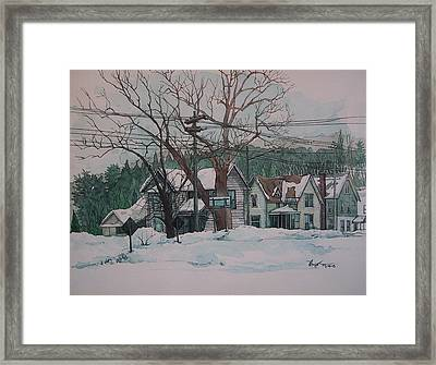 Snow Next Door Framed Print by Richard Ong