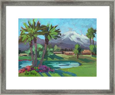 Snow On Mt. San Jacinto Framed Print