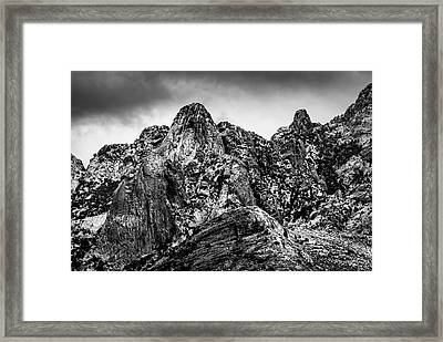 Framed Print featuring the photograph Snow On Peaks 46 by Mark Myhaver