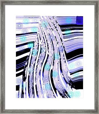 Framed Print featuring the digital art Snow On Ski Mountain by Marsha Heiken
