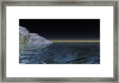 Snow On The Black Sea Framed Print by Wayne Bonney