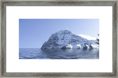 Snow On The Coast II Framed Print by Wayne Bonney