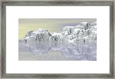 Snow On The Coast Framed Print by Wayne Bonney