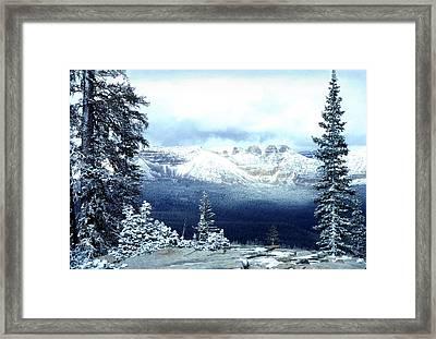Snow On The High Uintas Framed Print