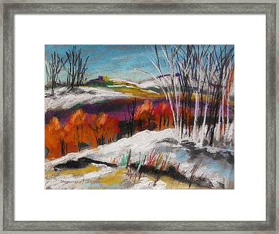 Snow On The Hills Framed Print by John Williams