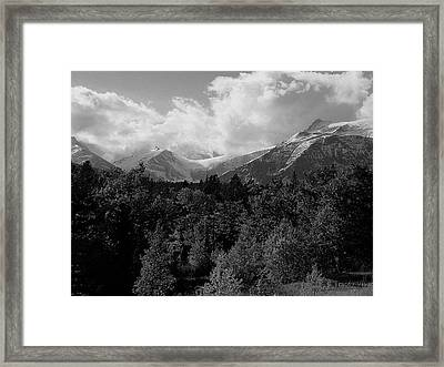 Snow On The Mountains Framed Print