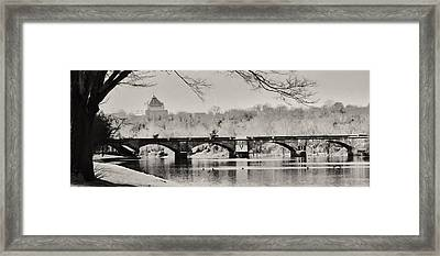 Snow On The River Framed Print by Bill Cannon