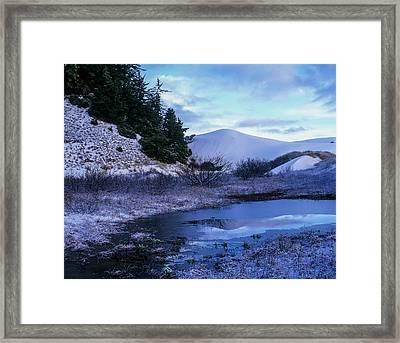 Snow On The Sand Framed Print