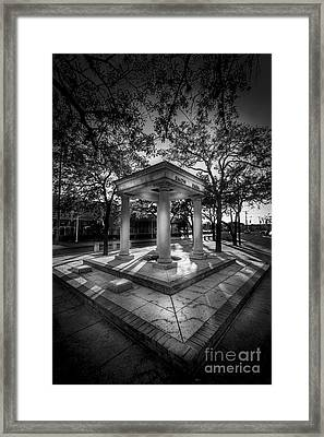 Snow Park B/w Framed Print by Marvin Spates