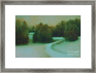 Snow Path Framed Print by Jana Baker