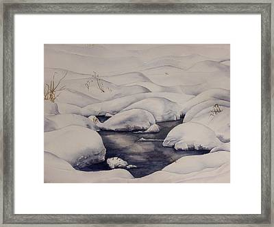 Snow Pool Framed Print by Debbie Homewood