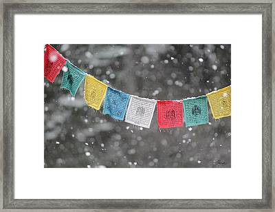 Snow Prayers Framed Print