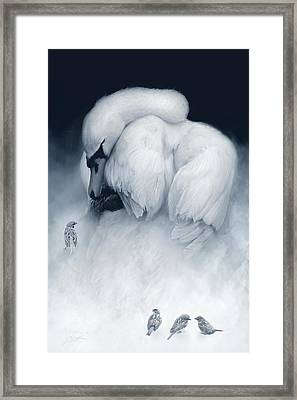 Snow Queen And Her Court Framed Print by Joel Payne