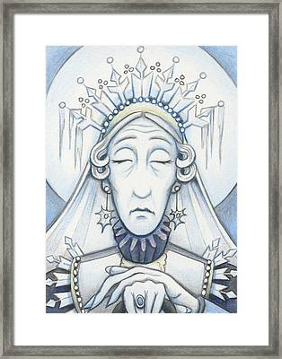 Snow Queen Mum Slumbers Framed Print by Amy S Turner