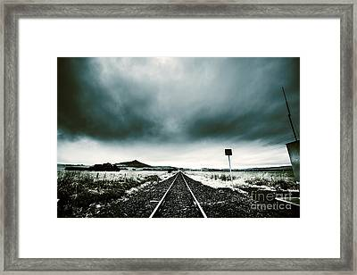 Snow Railway Framed Print by Jorgo Photography - Wall Art Gallery