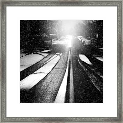 Snow Removal Framed Print by Diana Angstadt
