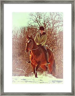 Snow Ride Framed Print by JAMART Photography
