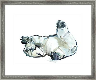 Snow Rub Framed Print by Mark Adlington