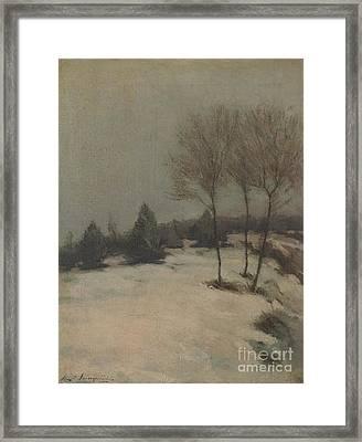 Snow Scene Framed Print by Celestial Images