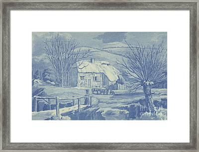 Snow Scene Framed Print by English School