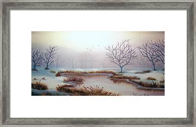 Snow Scene Framed Print by Ruth  Housley