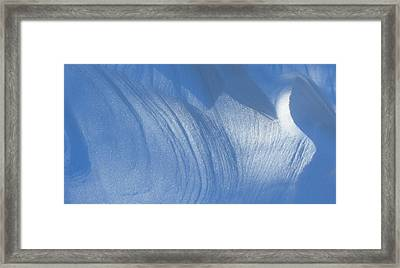 Snow Sculpted By The Wind Framed Print