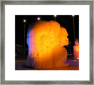 Snow Sculpture Framed Print by Richard Mitchell