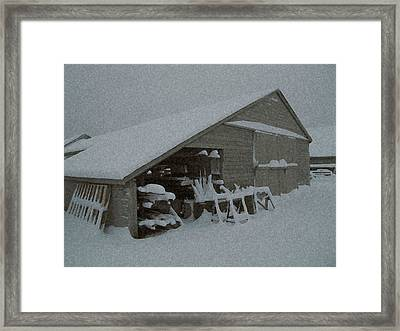 Snow Shed Framed Print by Paul Barlo